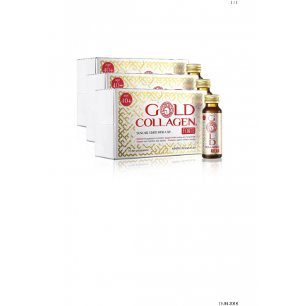 Gold Collagen® FORTE  30 days programme SET of 3. boxes (10. bottles x 3 boxes)